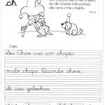 Atividade de caligrafia CH