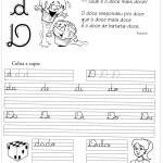 Atividade de caligrafia letra D