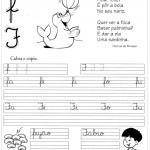 Atividade de caligrafia letra F