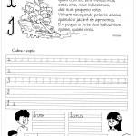 Atividade de caligrafia letra I
