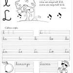 Atividade de caligrafia letra L