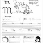 Atividade de caligrafia letra M