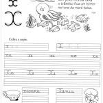 Atividade de caligrafia letra X