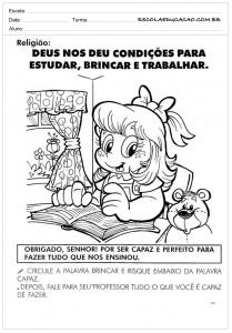 Atividades de Ensino Religioso para Colorir