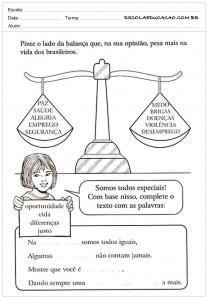Atividades de Ensino Religioso Justiça para imprimir