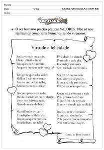Atividades de Ensino Poema Virtude e Felicidade