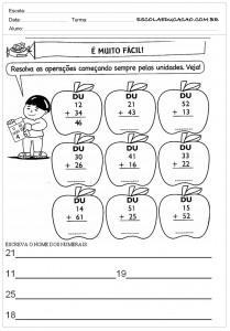 Atividades de Matemática 2º ano Somar