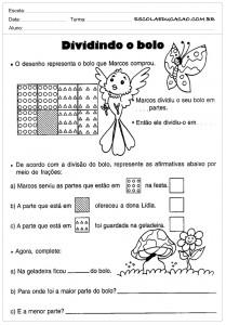 Atividades de Matemática 5º ano - Dividindo
