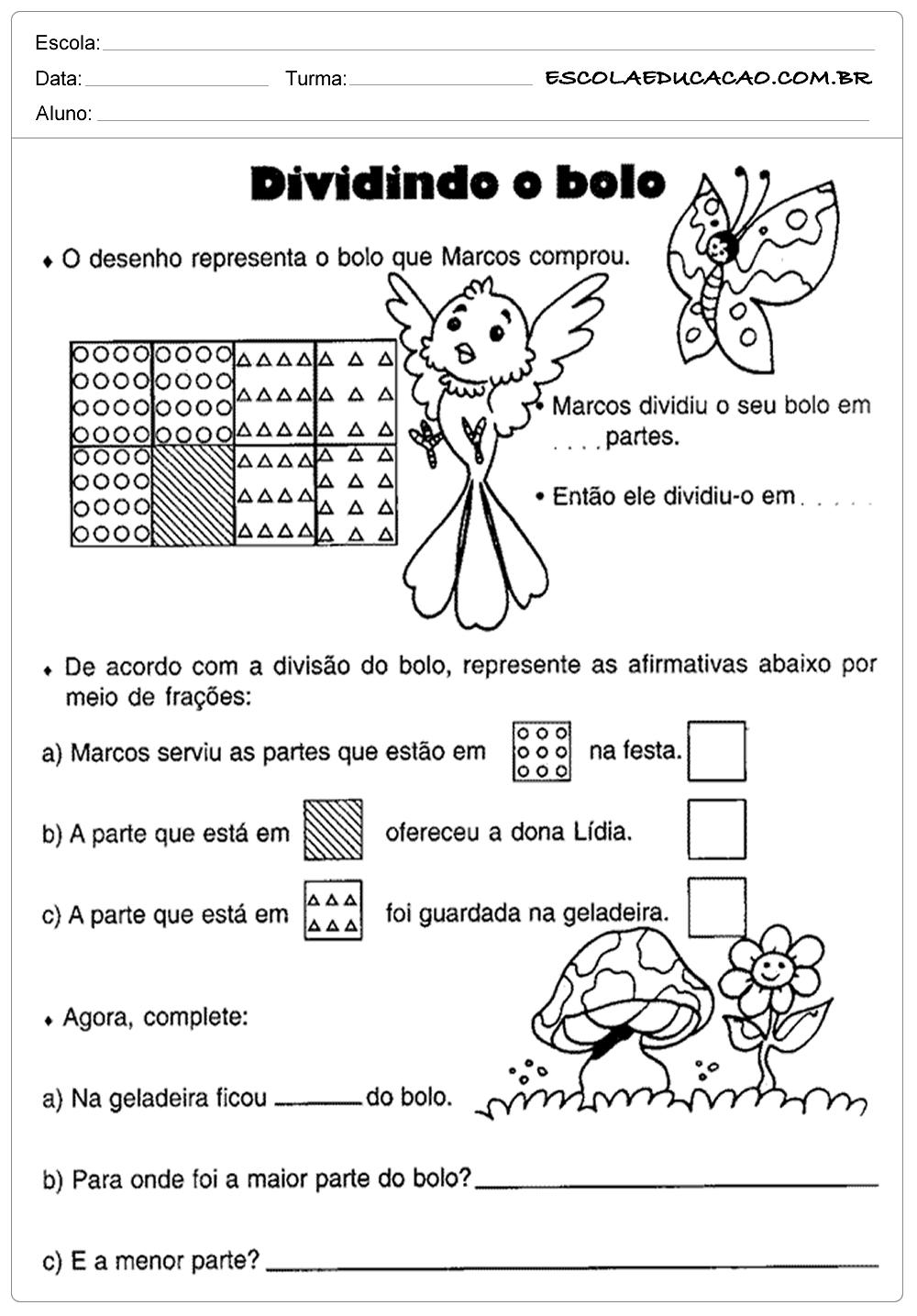 Atividades de Matemática 5º ano – Dividindo