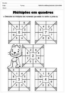 Atividades de Matemática 5º ano para imprirmir