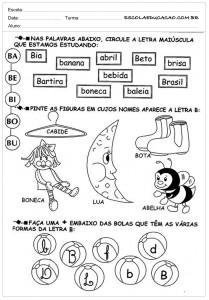 Atividades de Português 1 ano - Para IImprimrir