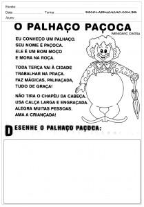 Atividades de Português 2 ano - Palhaço Paçoca