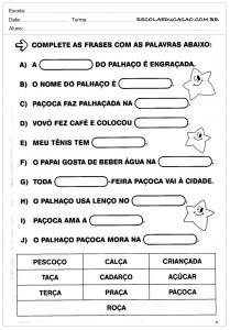 Atividades de Português 2 ano para imprimri