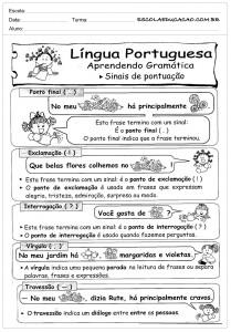 Atividades de Português 2 ano - Sinais de Pontuação