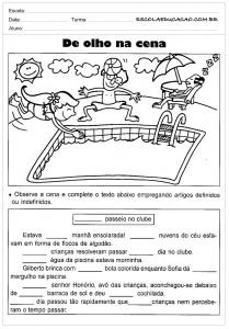Atividades de Português 4 ano