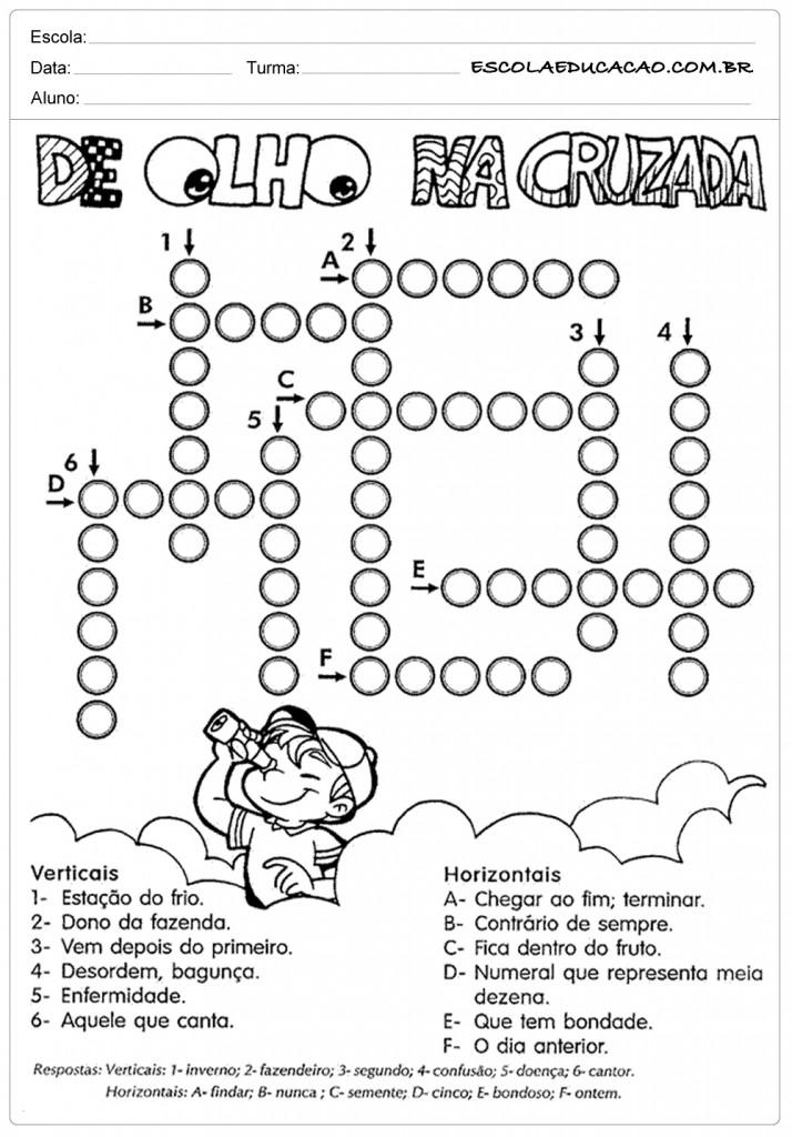Atividades De Portugues Para Imprimir Escola Educacao