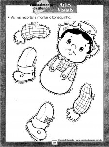 Atividades festa Junina Montar o boneco