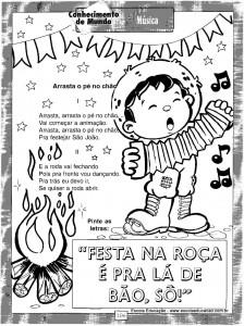 Atividades festa Junina Cantar 4