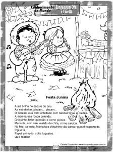 Atividades festa Junina Cantar 3
