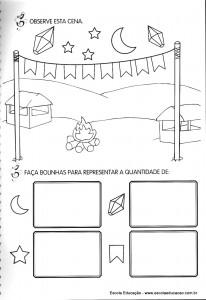 Atividades festa Junina desenho