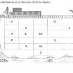 Complete o alfabeto com as letras