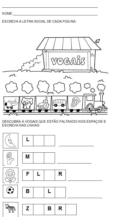 Atividade para Alfabetizar – Vogais