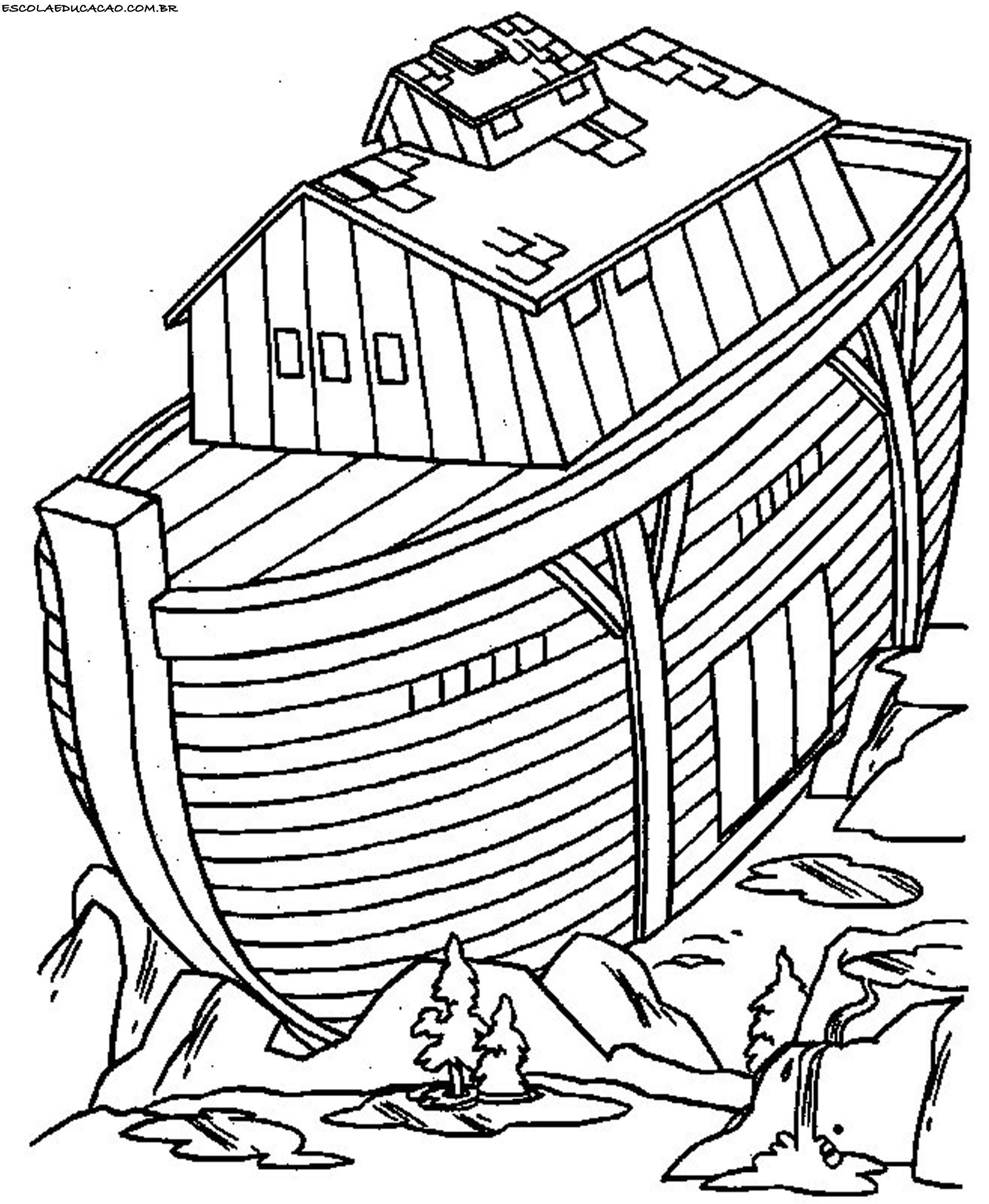 Desenhos Biblicos Para Colorir Arca De Noe Escola Educacao