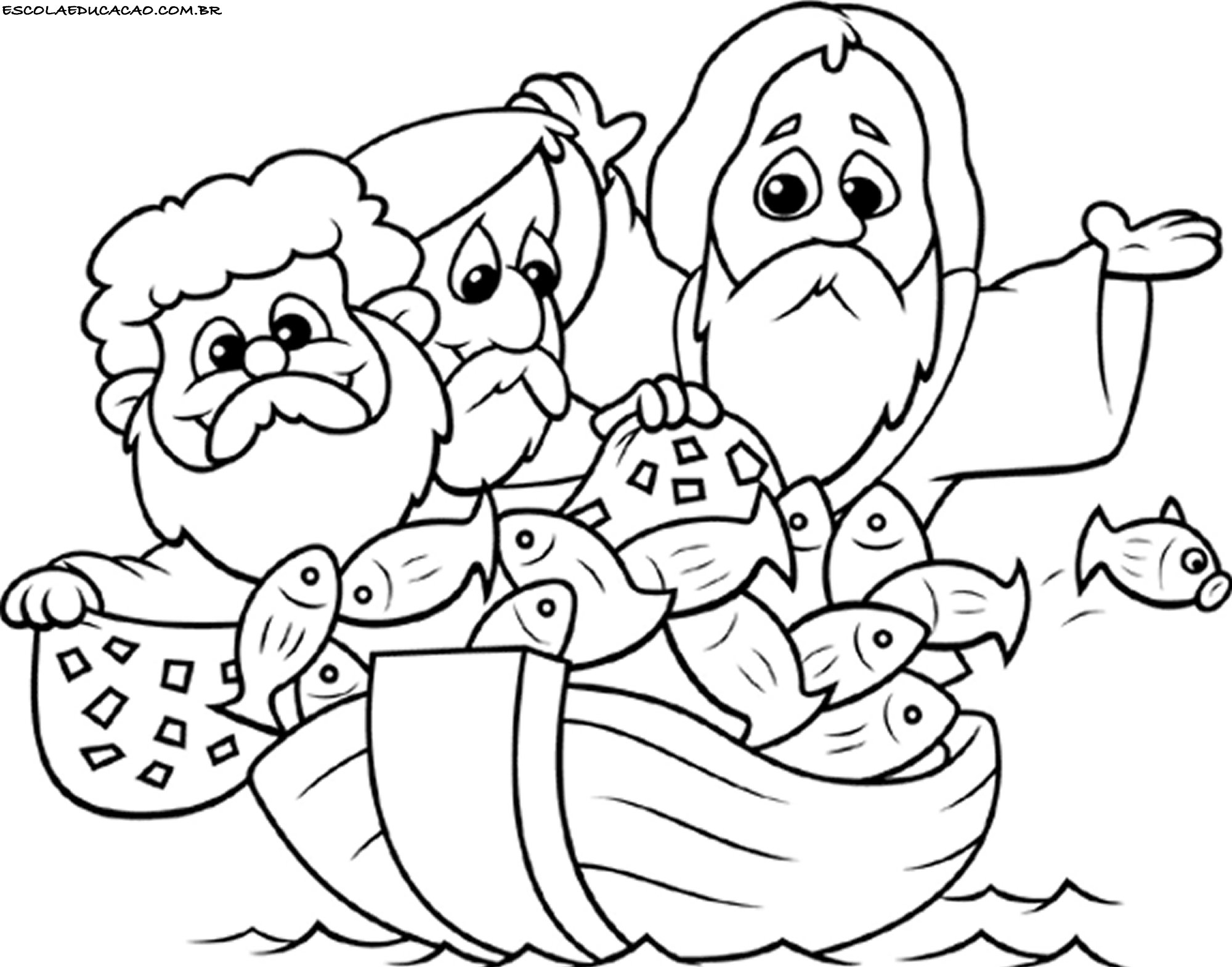Desenhos para colorir e imprimir escola educa o for Bible story color pages