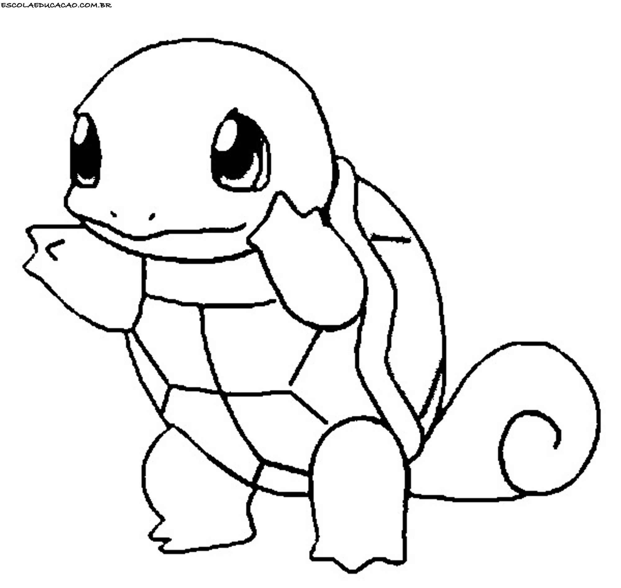 Desenhos Para Colorir Do Pokemon Squirtle Escola Educacao