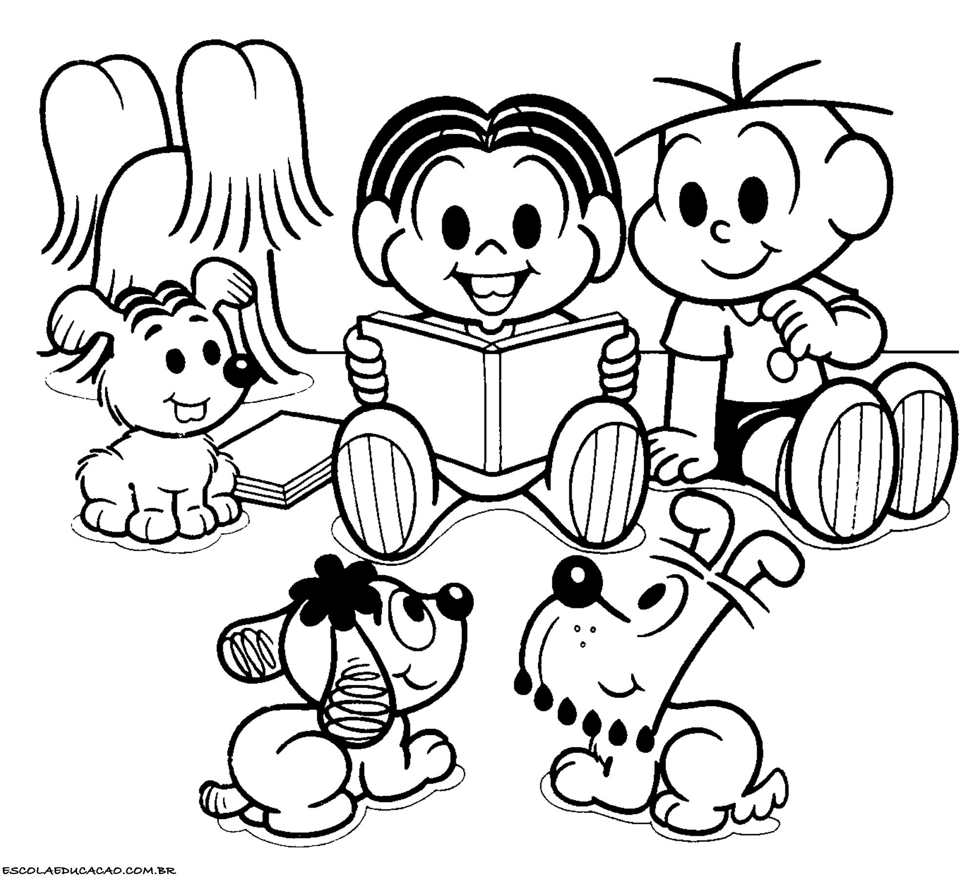 Populares Desenhos para Colorir e Imprimir - Escola Educação FT11