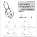 Exercicios de caligrafia letra A