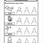 Imprimir atividade de caligrafia letra A