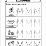 Imprimir atividade de caligrafia letra M