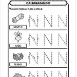Imprimir atividade de caligrafia letra N
