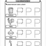 Imprimir atividade de caligrafia letra P
