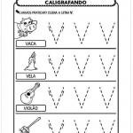 Imprimir atividade de caligrafia letra V