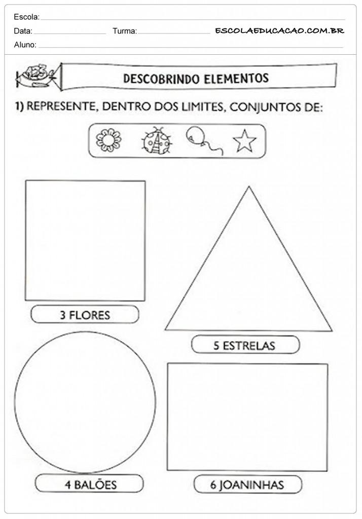 Atividades de Matemática 1º ano - Descobrindo os elementos