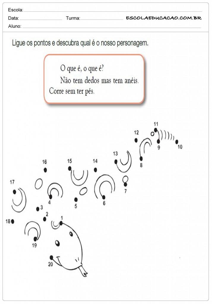Atividades de Matemática 2º ano - Ligue os pontos