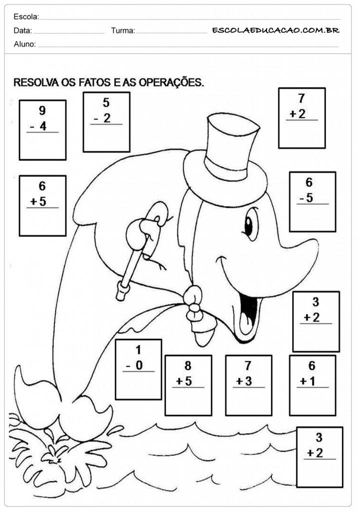 Atividades de Matemática 2º ano - Operações Matemáticas