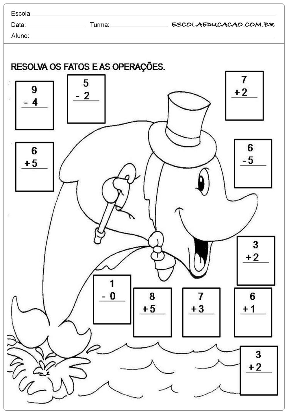 Atividades de Matemática 2º ano – Operações Matemáticas