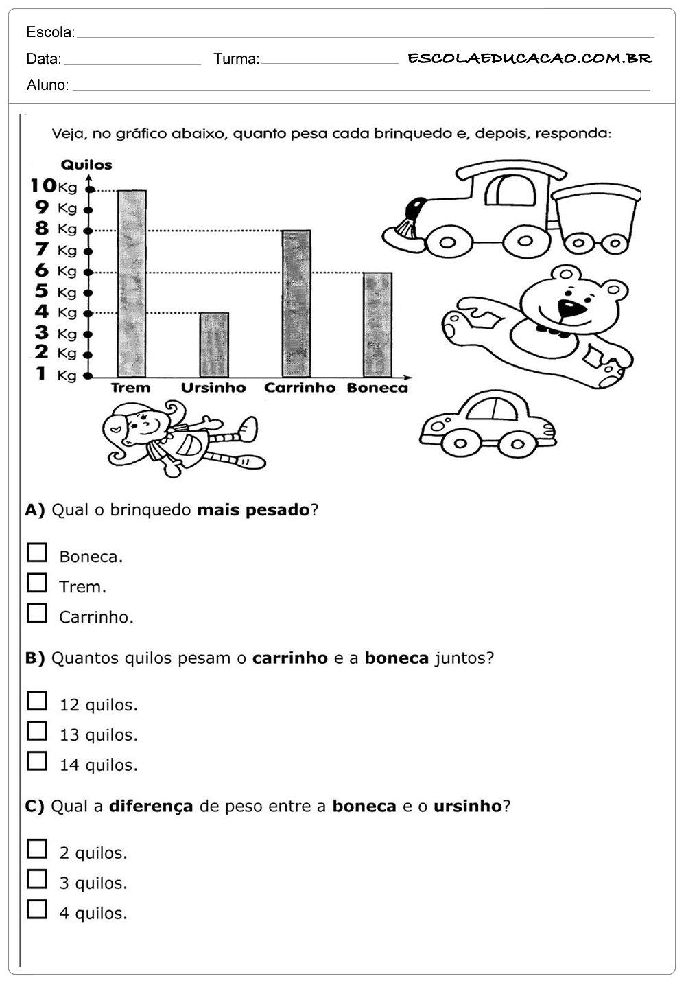 Atividades de Matemática 2º ano – Quilos