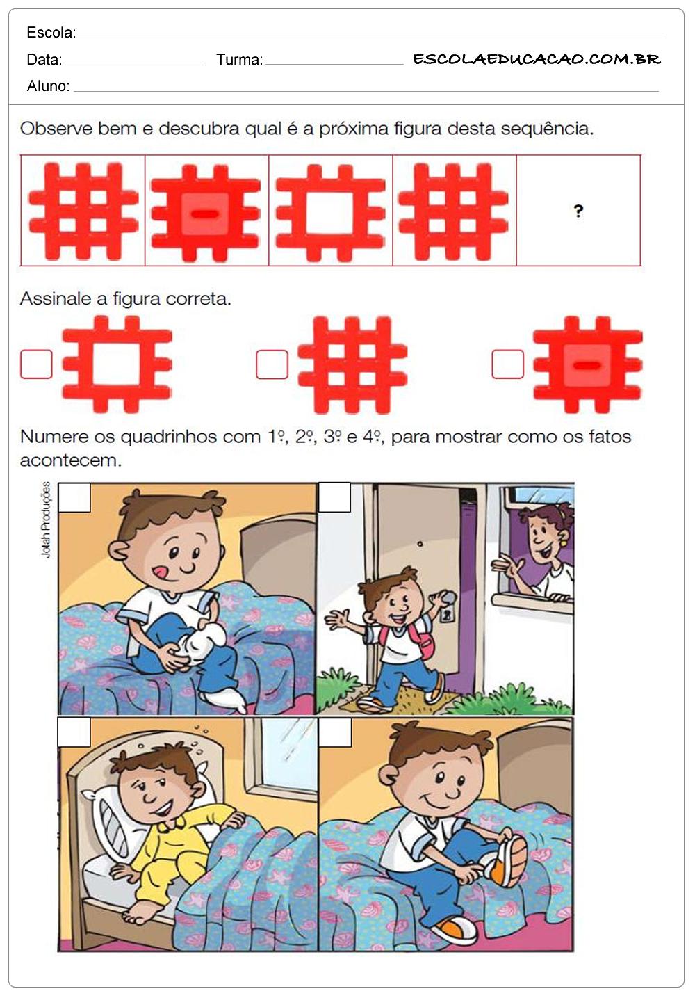 Atividades de Matemática 2º ano – Sequência