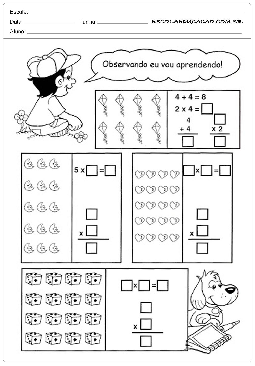 Atividades de Matemática 3º ano – Contas matemáticas