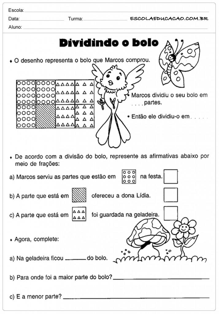 Atividades de Matemática 5 º ano - Divisão