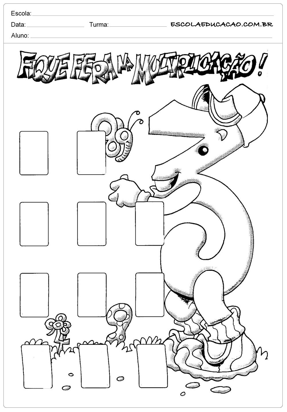 Atividades de Multiplicação 2º ano – Fique Fera na Multiplicação