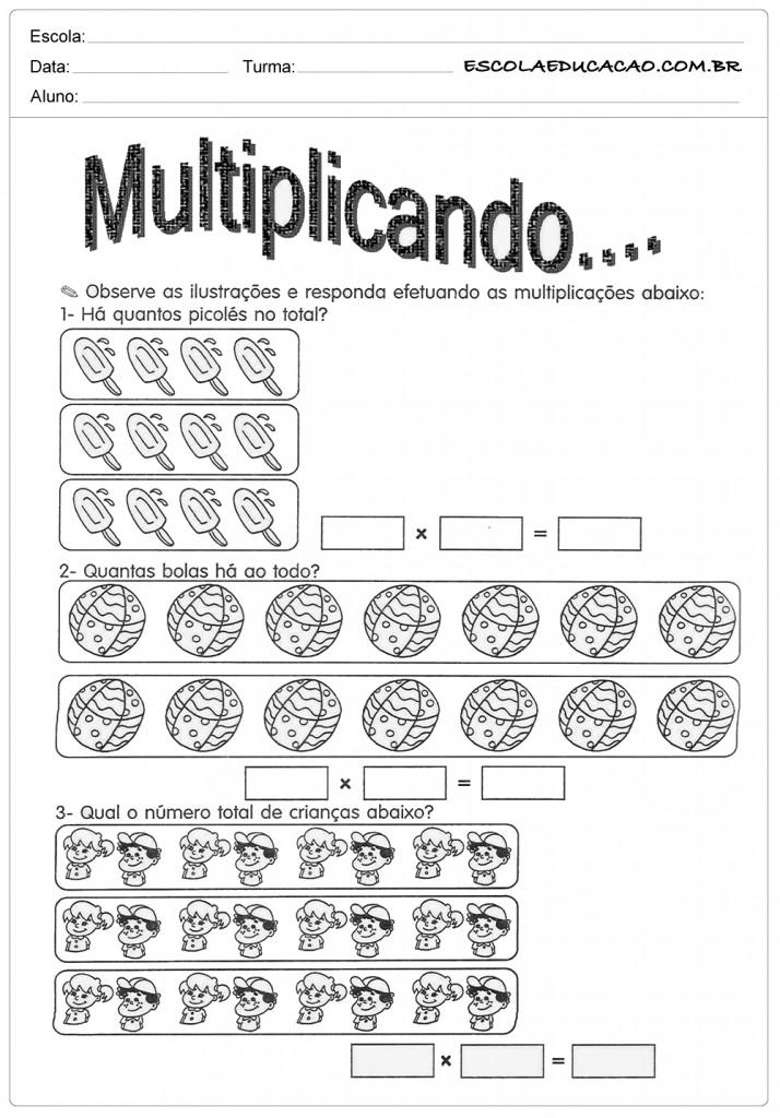 Atividades de Multiplicação - Multiplicando