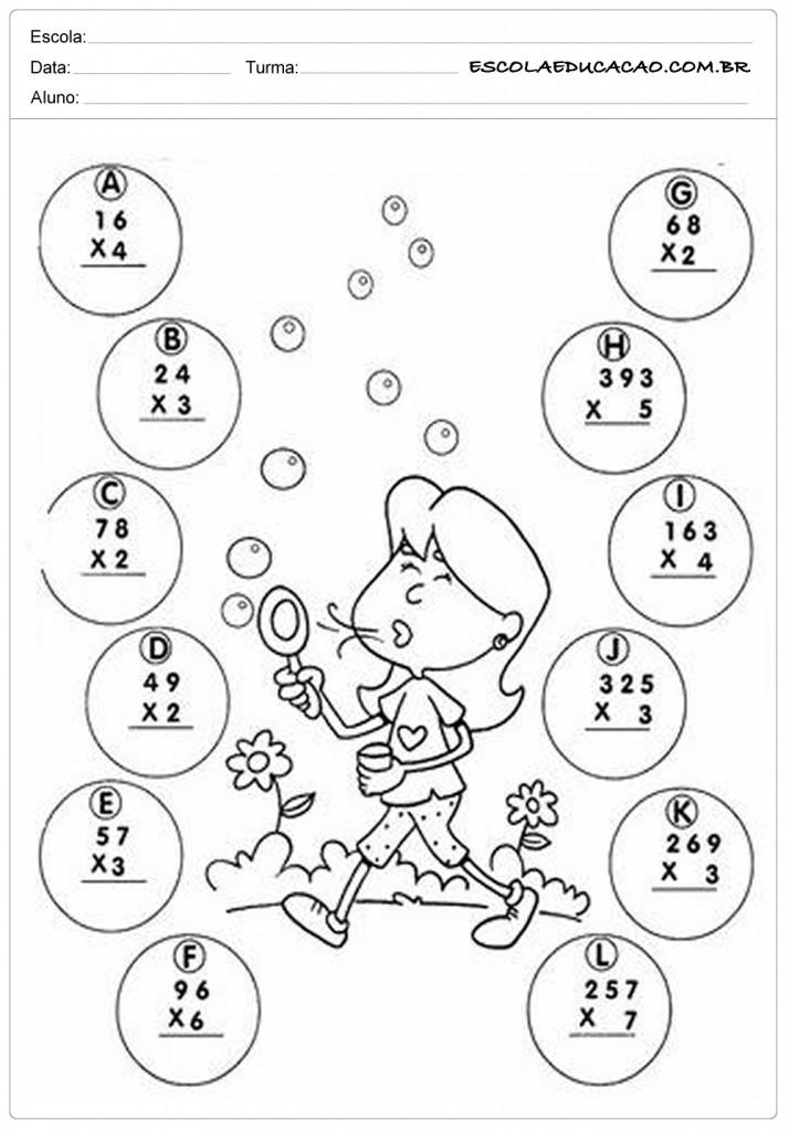 Atividades de Multiplicação - 5º ano - Multiplique