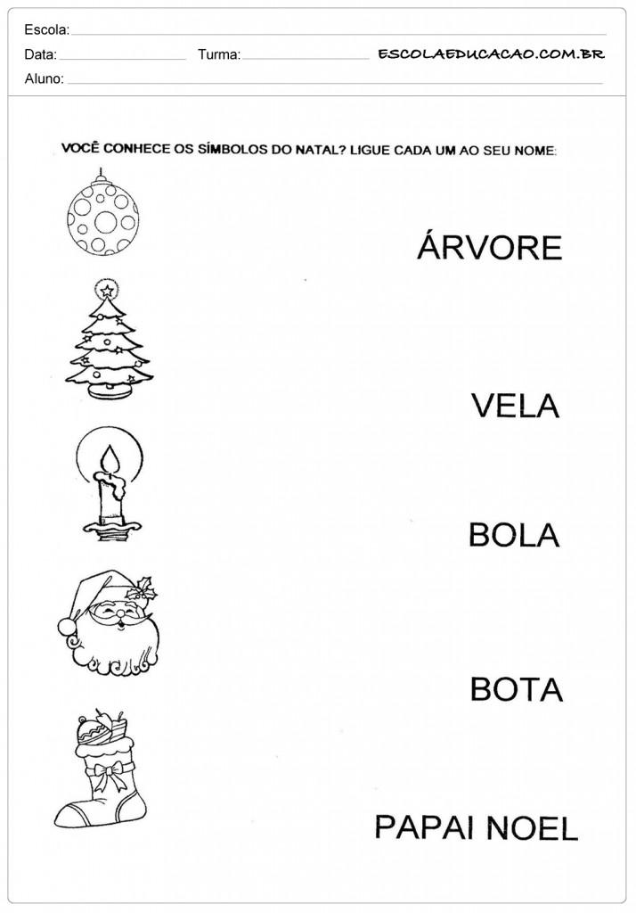 Atividades de Natal - Símbolos de Natal