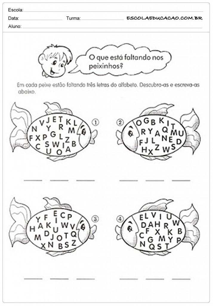 Atividades de Português 1º ano - Descubra a palavra