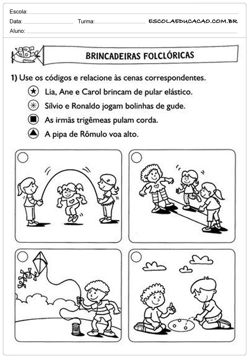 Atividades de Português 2º ano – Brincadeiras Folclóricas